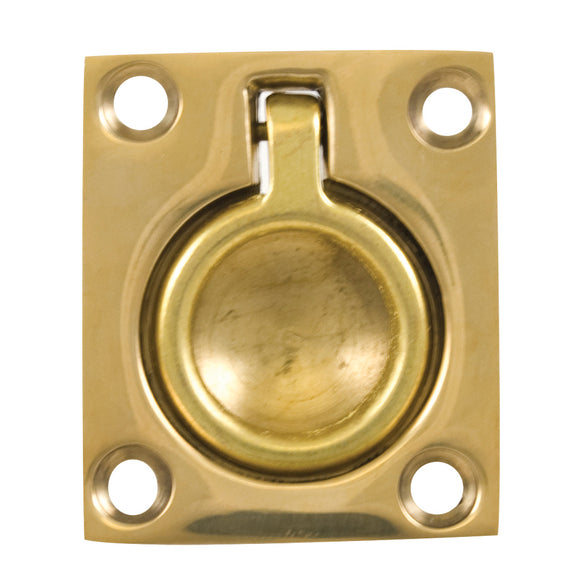 Whitecap Flush Pull Ring - Polished Brass - 1-1/2