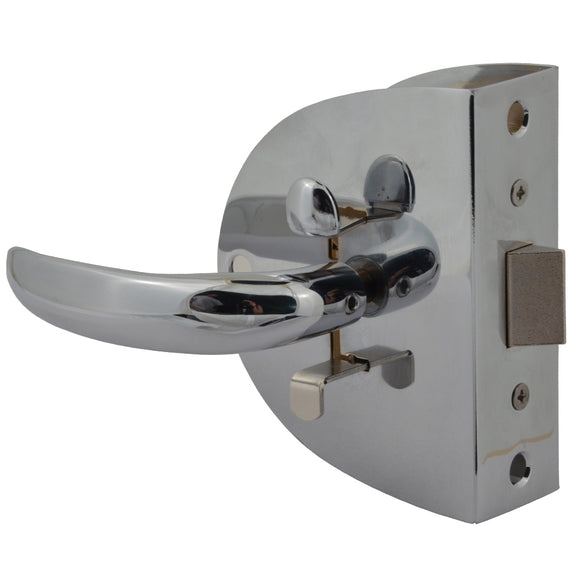 Southco Compact Swing Door Latch - Chrome - Non-Locking [MC-04-123-10]