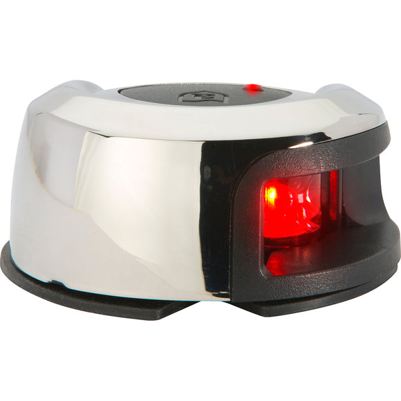 Attwood LightArmor Deck Mount Navigation Light - Stainless Steel - Port (red) - 2NM [NV2012SSR-7]