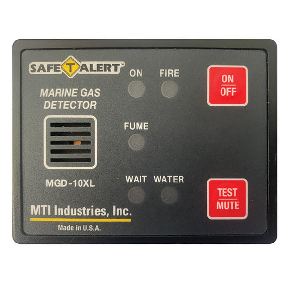 Safe-T-Alert Gas Vapor Alarm Fume, Fire, Bilge Water - Black Surface Mount [MGD-10XL]