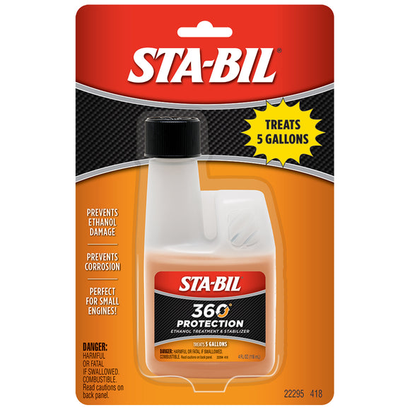 STA-BIL 360 Protection - Small Engine - 4oz *Case of 6* [22295CASE]