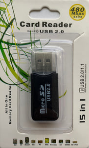 Portable USB 2.0 Card Reader for Justice Cam MicroSD Card