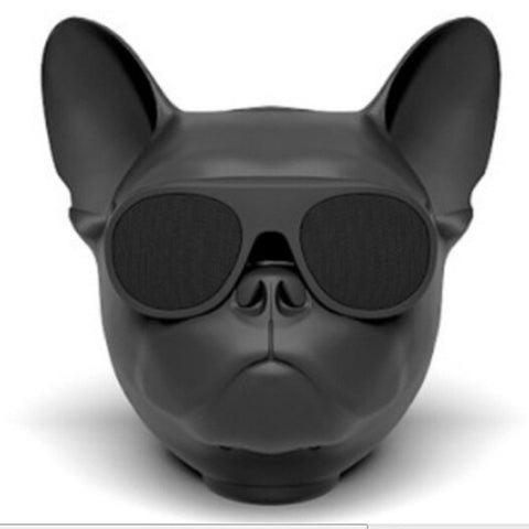 Aerobull Bulldog Dog Head Bluetooth Wireless Speaker (Black)