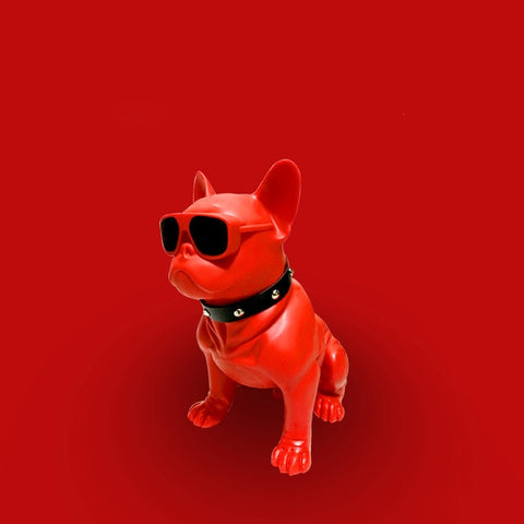 Aerobull Wireless Bluetooth French Bulldog Speaker (Red)
