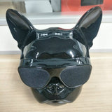 Aerobull French Bulldog Bluetooth Metallic/Chrome Dog Speaker (Bright Black)