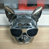 Aerobull French Bulldog Bluetooth Metallic/Chrome Dog Speaker (Silver)