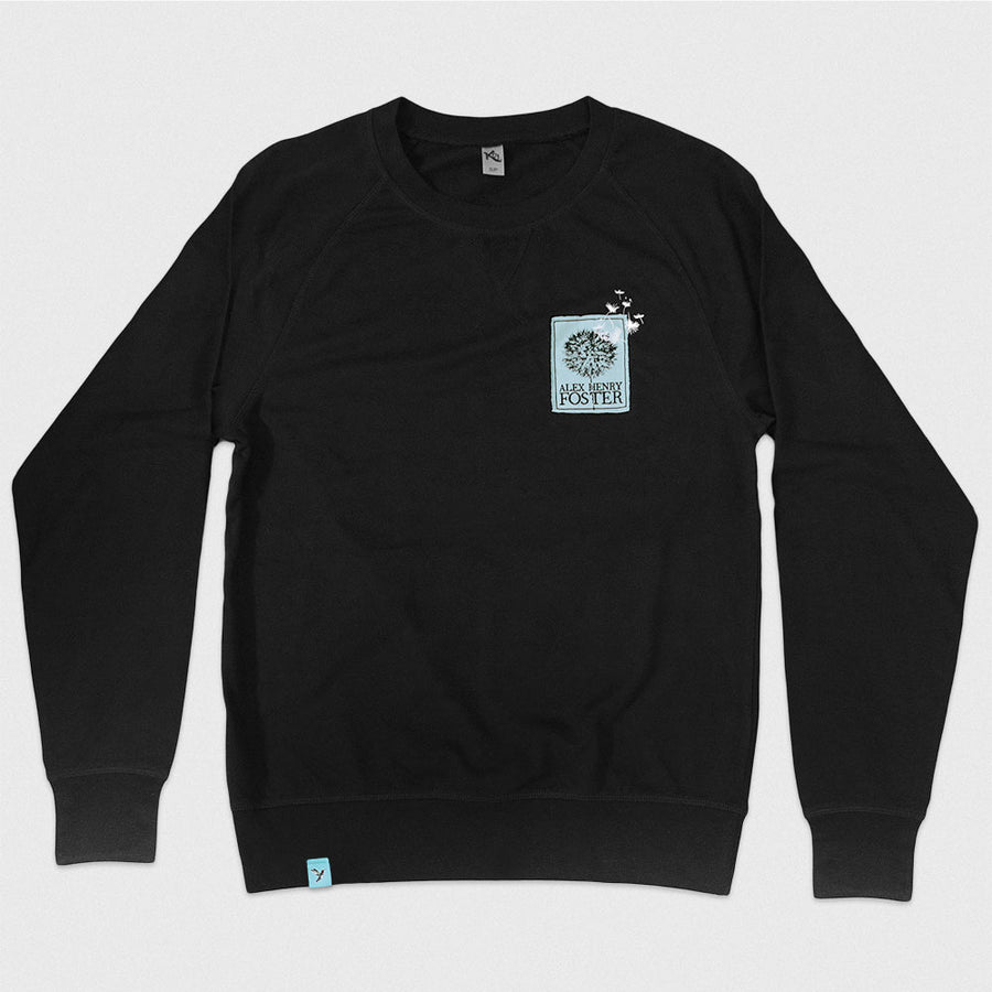 """Reflected Image"" Crew Neck Long Sleeve T-Shirt"