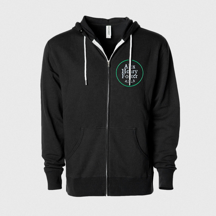 """Lonesome Shine"" Zipped Fleece Hoodie"