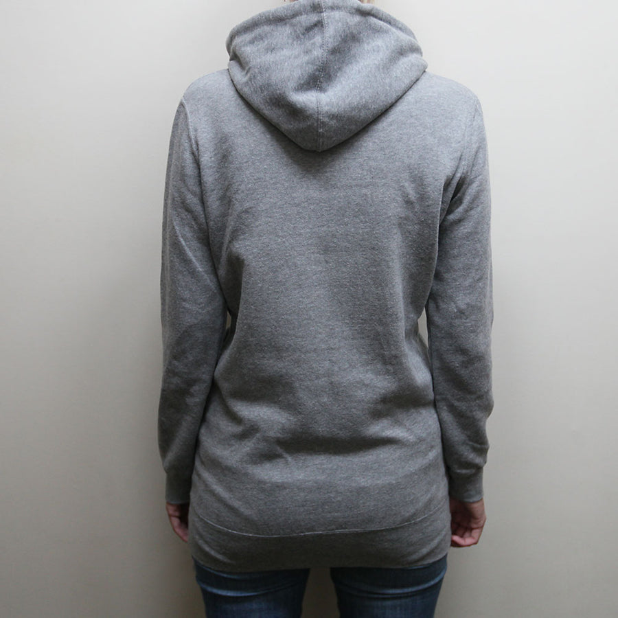 """Blooming Love In Tidal Time"" Hoodie Dress - Heather Grey"