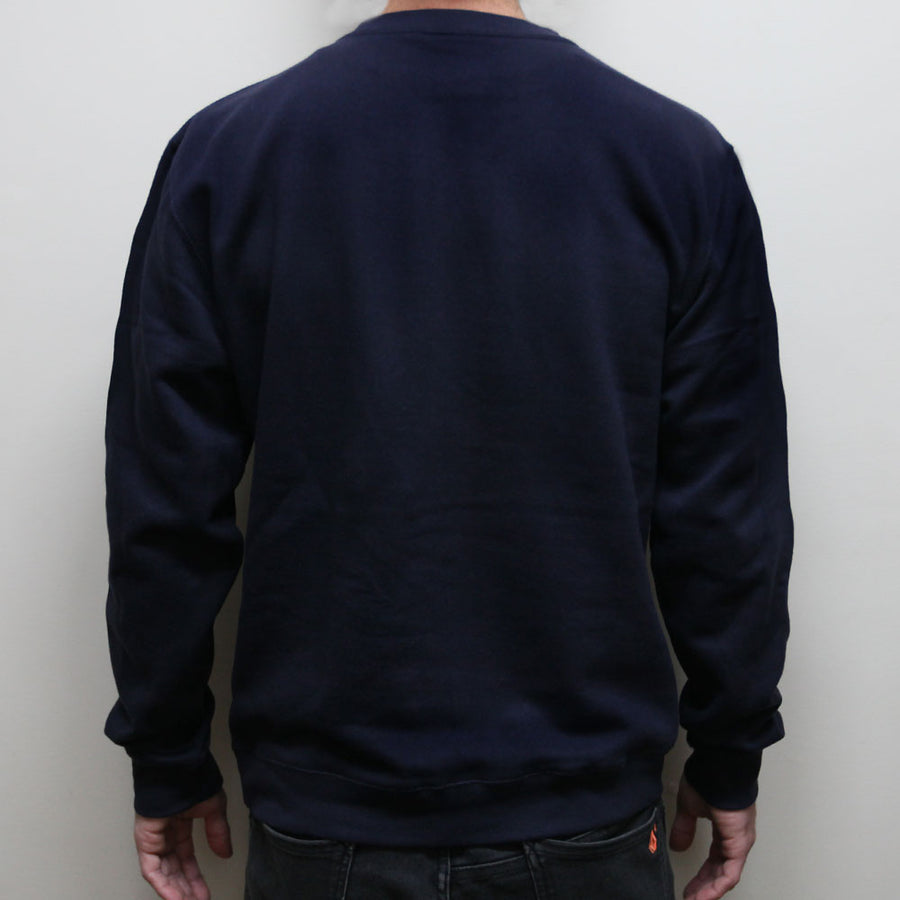 """Falling Into The Sun's High View"" Pullover Sweatshirt - Navy"