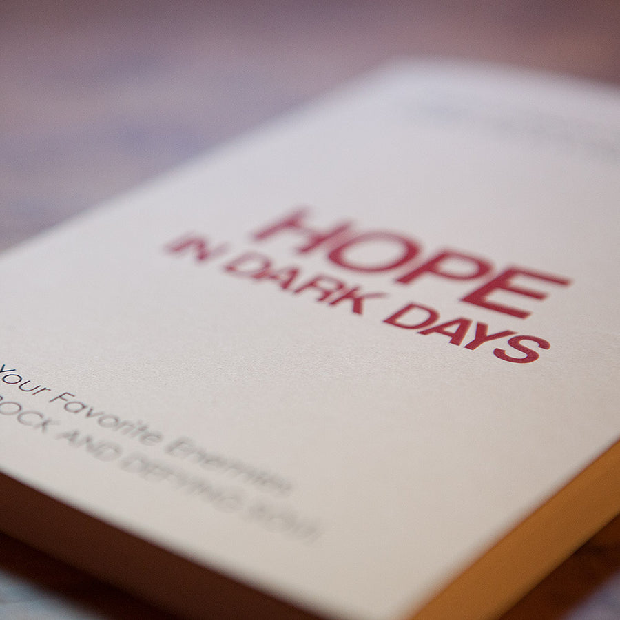 """Hope in Dark Days"" Notebook - Cream"