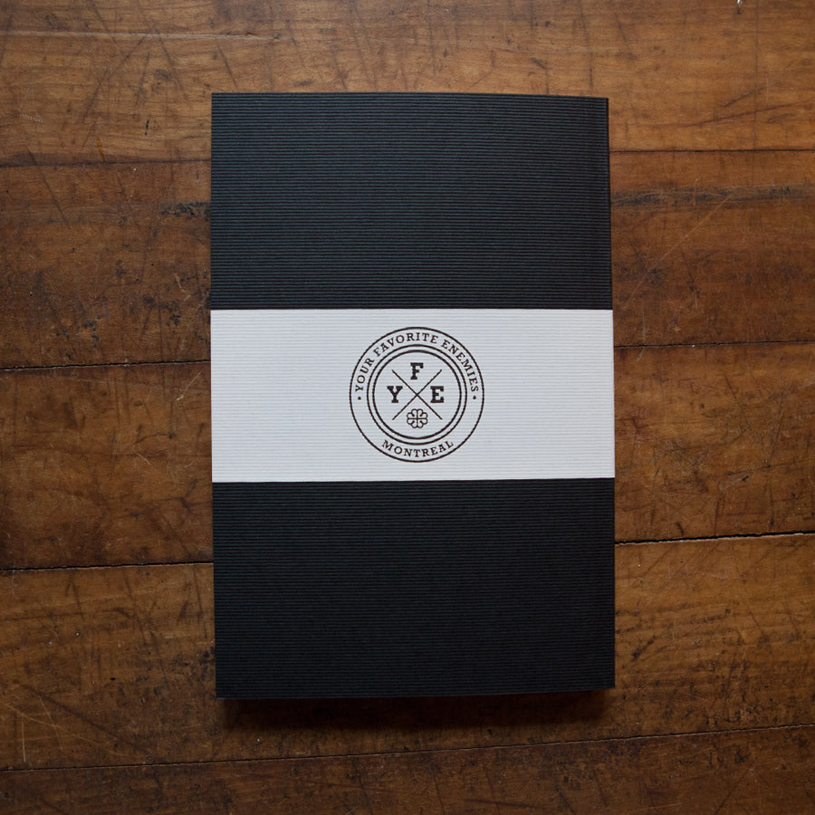 """Hope in Dark Days"" Notebook - Black"