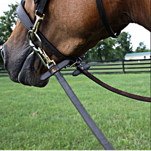 Double S Training Reins With Snaps And Stops