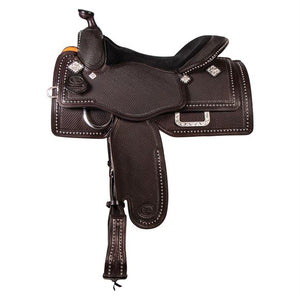 Studded Basketweave Show Saddle