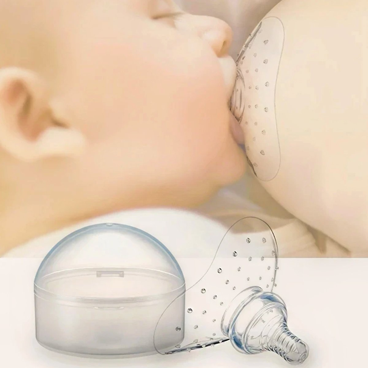 Breastfeeding Silicone Nipple Protector - Natural Baby