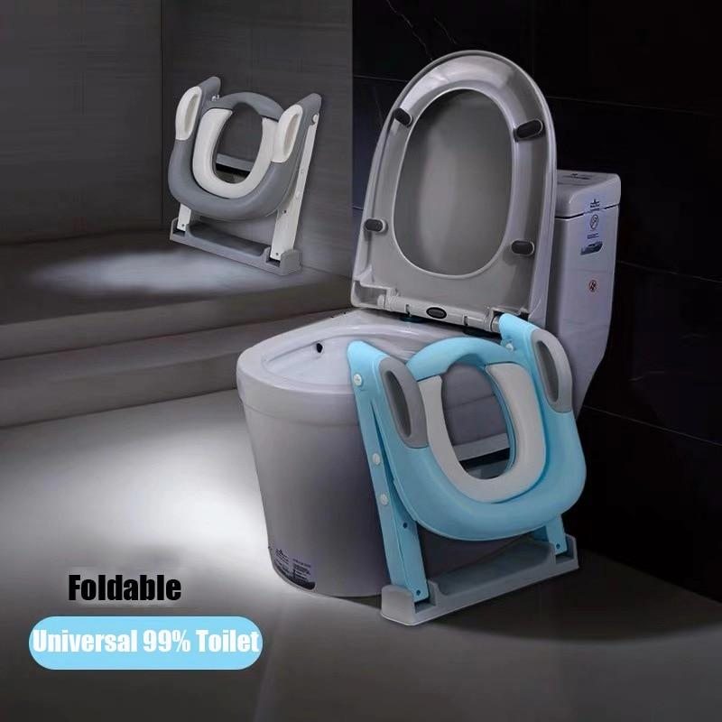 Putty - Folding Potty with Ladder and Backrest - Natural Baby