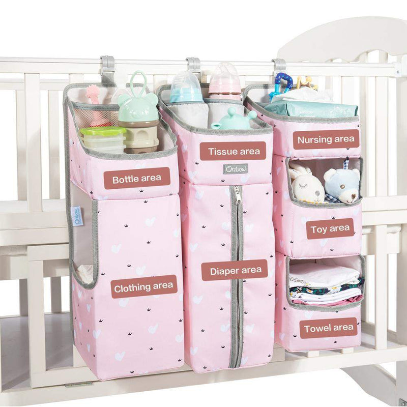 Baby Bed Organizer Hanging Bags For Newborn Crib Diaper Storage Crib Organizer ManiBaa