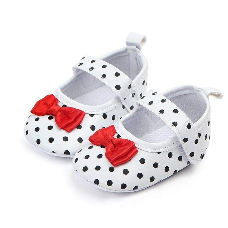 Baby Girl Shoes Toddler Infant Anti-slip Polka Dot PU First Walkers Shoes ManiBaa