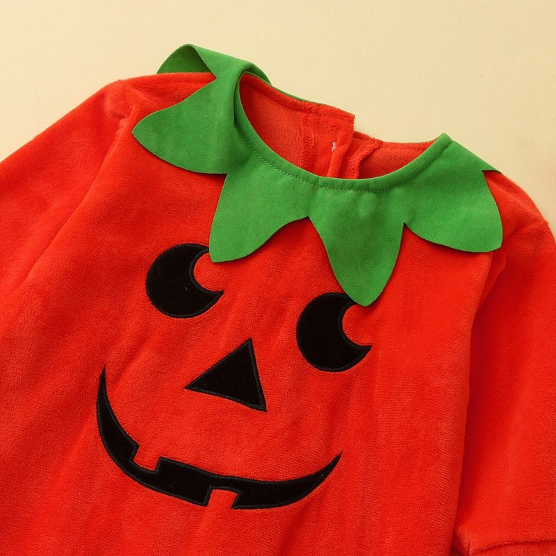 Cute Newborn Infant Baby Kids Girls Boys Long Sleeve Pumpkin Halloween Jumpsuit ManiBaa