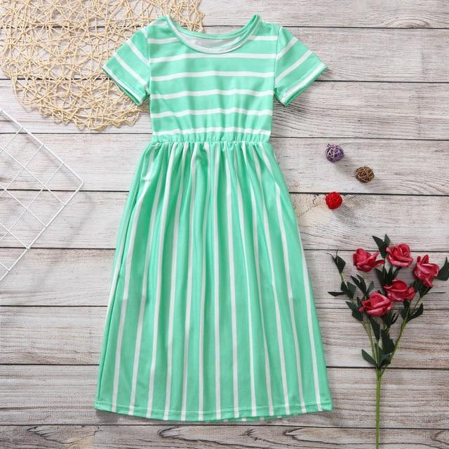 Kids Girls Dresses Summer Casual Beach Party Maxi ManiBaa