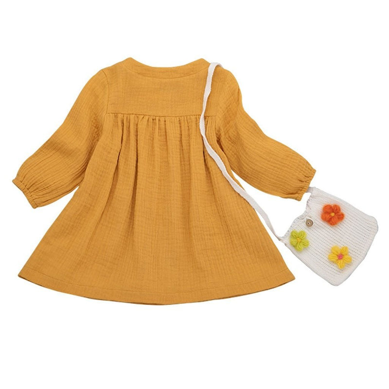 Newborn Baby Girl Summer Clothes Dress Long Sleeve ManiBaa