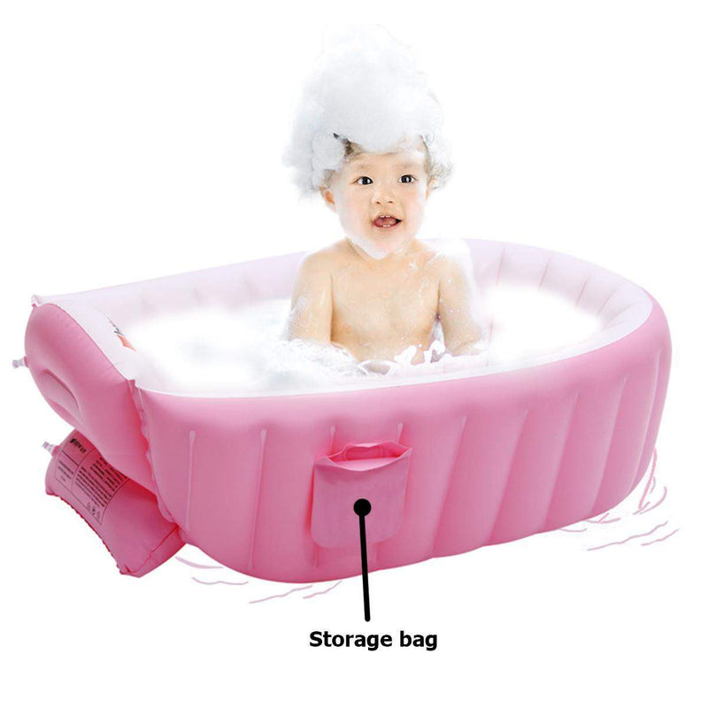 Portable Bathtub Inflatable Bath Tub Baby Tub Cushion Keep Warm Folding ManiBaa