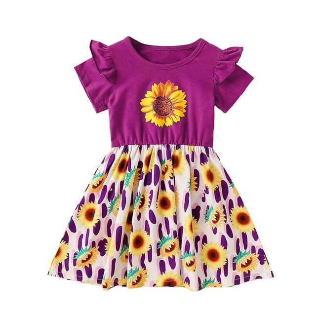 Summer Girls Dress Kids Sleeveless Sunflower Princess ManiBaa
