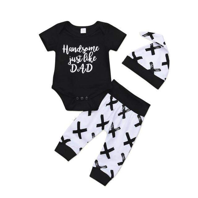 Toddler Kids Baby Boy 3Pcs Clothes Set Newborn Romper Outfits Clothing ManiBaa