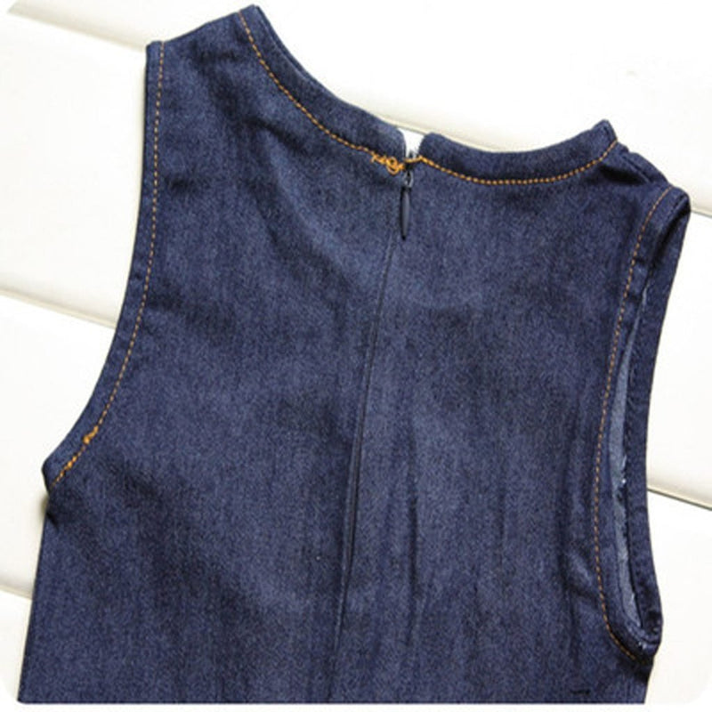 Toddler Kids Baby Girls Summer Denim Set Sleeveless Jacket ManiBaa