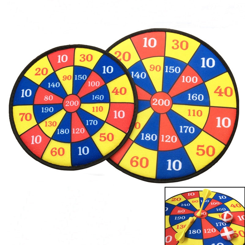 Party Darts Games Plate Set Sport Double Target Dart Flocking Dartboard Boards Toys for Children 1pc