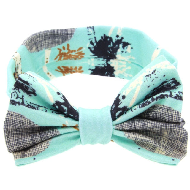 Kid Baby Girl Floral Elastic Hairband Girls Baby Headband Toddler Rabbit Ears
