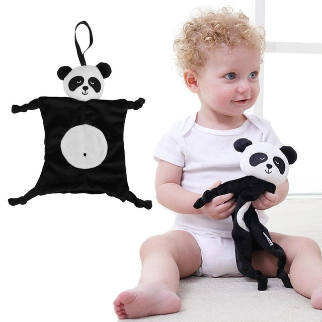 Newborn Baby Cute Playmate Plush Doll Toys Kids Cartoon Animals Hand Bells Rattles Toy Baby Teether