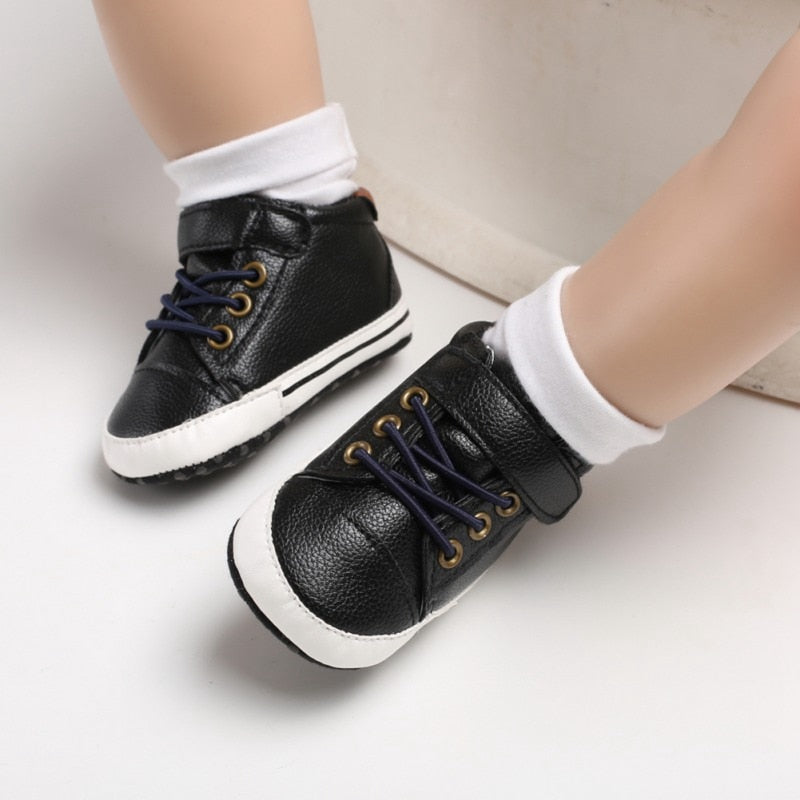Toddler Newborn Leather Soft Sole Canvas Sneakers Shoes Autumn Winter Fashion