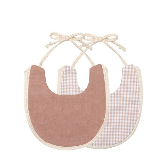Newborn Baby Boys Girls Cute Saliva Towel Feed Triangle Double-deck Cotton Bibs 1PC