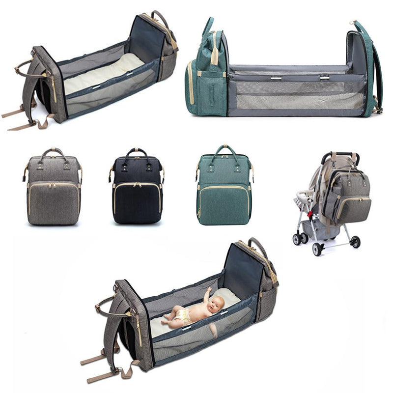 Baby Diaper Bag Backpack Bed Crib Baby Sleeping Bag For Travel Bed Diaper Pad Stroller Organizer In Stock