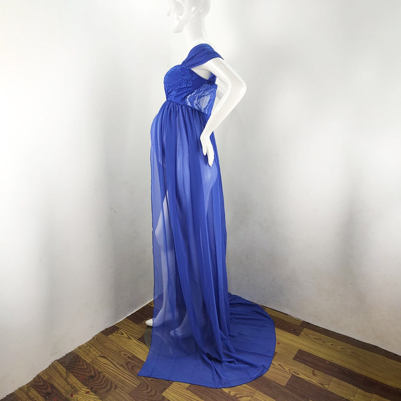 Maternity Dresses For Photo Shoot Chiffon Pregnancy Dress Photography Prop Maxi Gown