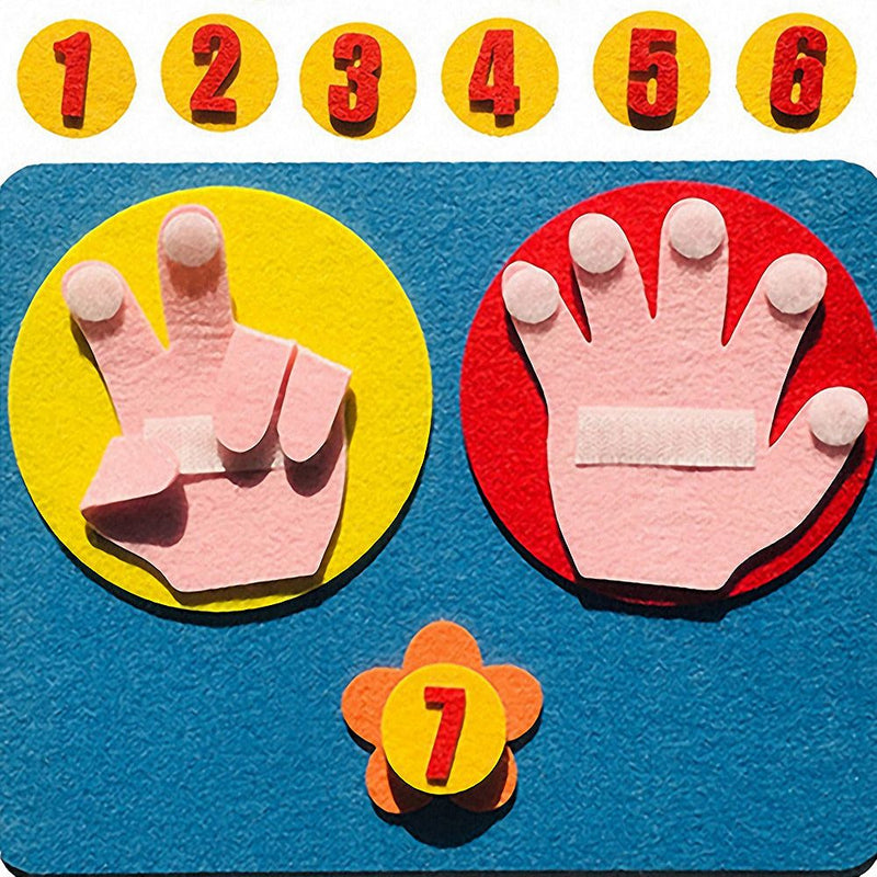Handmade Felt Finger Numbers Math Toy 25*20cm Children Counting Math Toy Montessori for kids 1Set