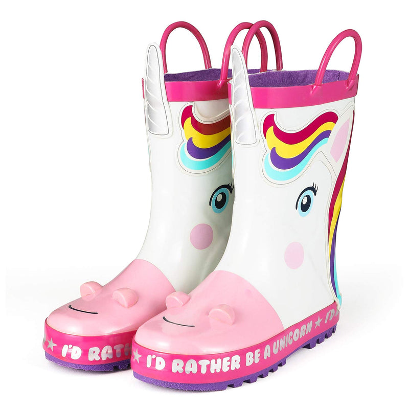Rain Boots Kids Girl Cute Unicorn Printed Children's Rubber Boots