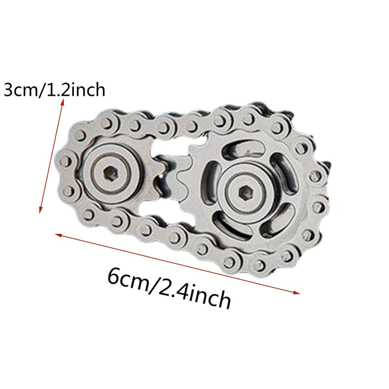 Fingertip Toys gyro Sprocket Flywheel Fingertip Fidget Spinner Metal Toy Gear Chain Christmas Gifts