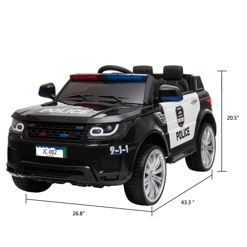 Electric Car Ride On Toy Cars For Children Kids Police Ride On Car 2.4G Remote Control Dual Drive