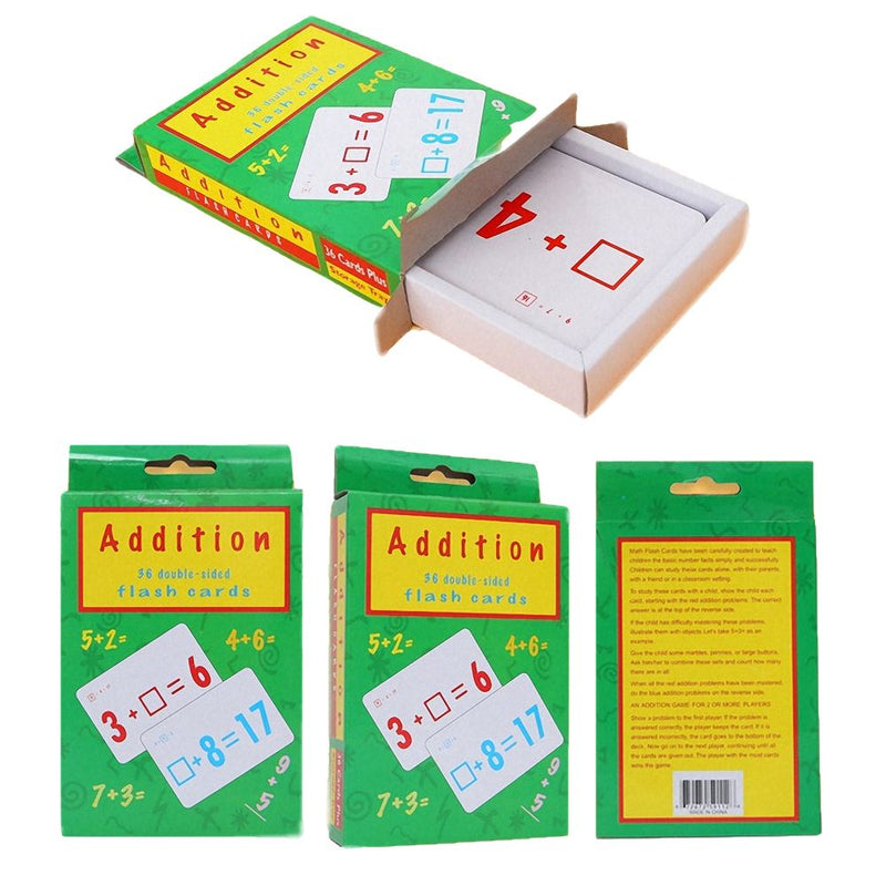 Children Learning Cards Mathematics Learning Flash Card Addition Subtraction Arithmetic Toy Montessori Materials Educational Toy