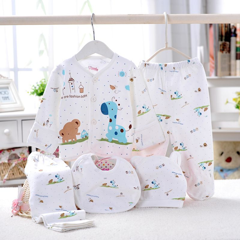 baby clothes 0-3M print cartoon newborn clothing gift set baby outfit 5PCS