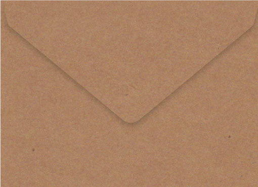 vintage Kraft envelopes for 5 x 7inch invites