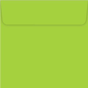 Mid green 150mm square peel and seal envelope