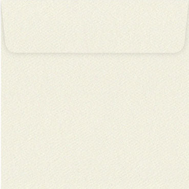 160mm square felt cream envelope