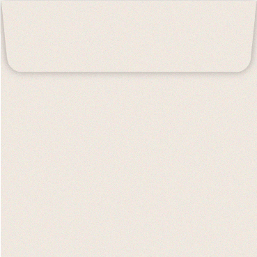 150mm square ivory opalescent envelopes