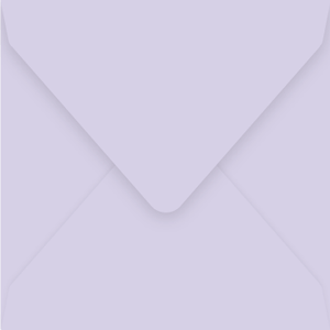 160mm square lilac envelopes