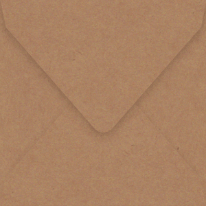 160mm square vintage kraft envelopes