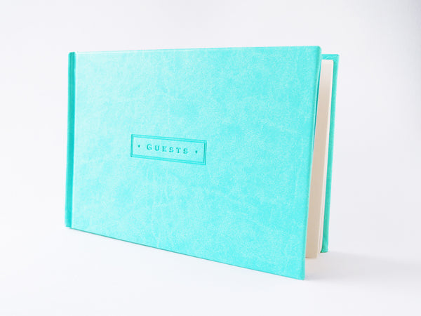 Sea Foam Leatherette Guestbook