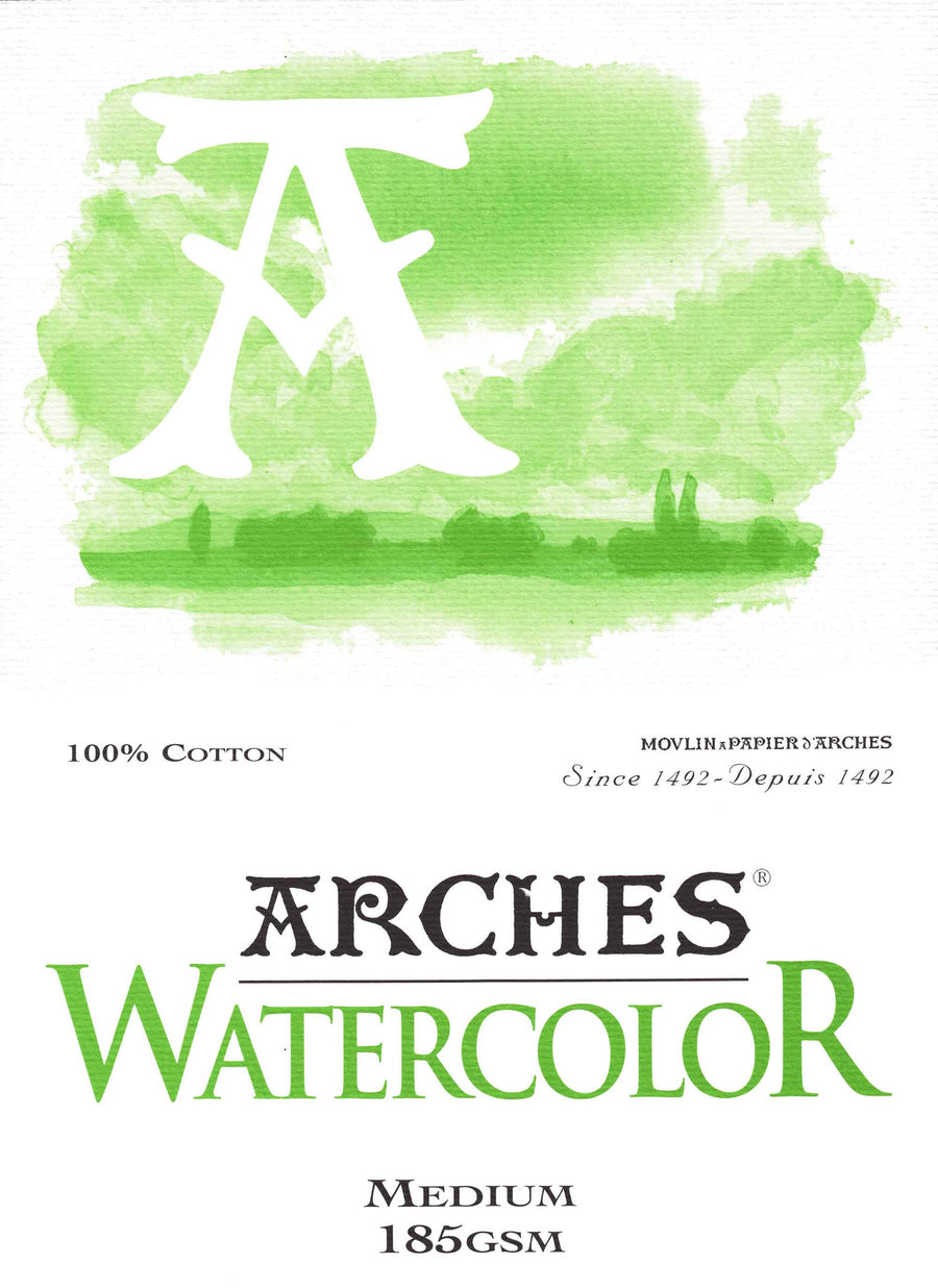 Arches Watercolour Pad A4 185gsm Medium